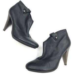 Coach | Aliza Genuine Leather Black Heel Bootie